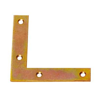 Piastra angolare standers acciaio zincato L 80 x Sp 2 x H 20 mm  4 pezzi