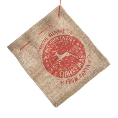Sacco regali  in tessuto H 73 cm, L 51 cm  x P 0.4 cm