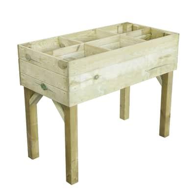 Fioriera per orto in legno marrone L 100 x P 50 x H 80 cm