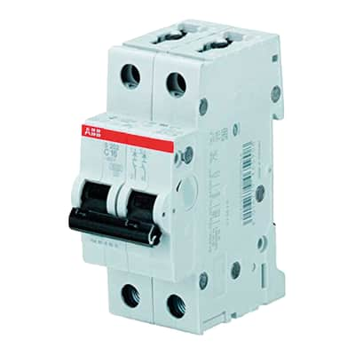 Interruttore magnetotermico ABB S202L C20 1P +N 20A 4.5kA 2 moduli 230V