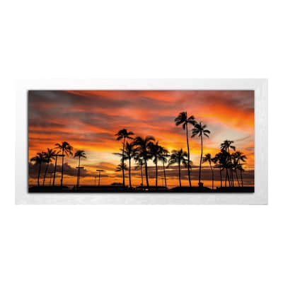 Quadro su tela Beach sunset 136x76 cm