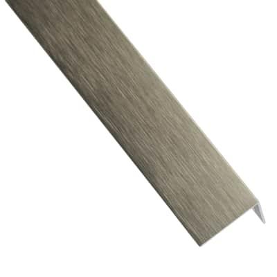 Profilo a l STANDERS in alluminio 1 m x 2.35 cm titanio