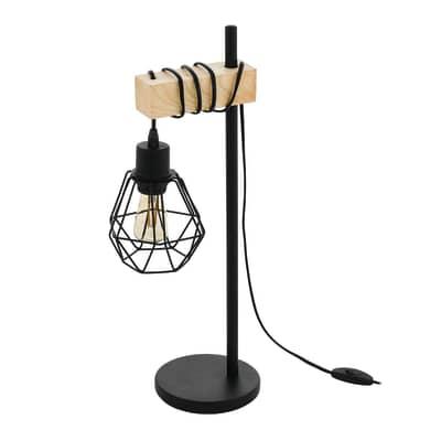 Lampada Da Tavolo Vintage Townshend Nero In Metallo Eglo Prezzo Online Leroy Merlin