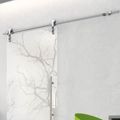 Binario per porta scorrevole Lux grigio L 2 m