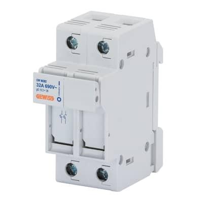Porta-fusibile GEWISS 2 poli 32A 2 moduli 400V