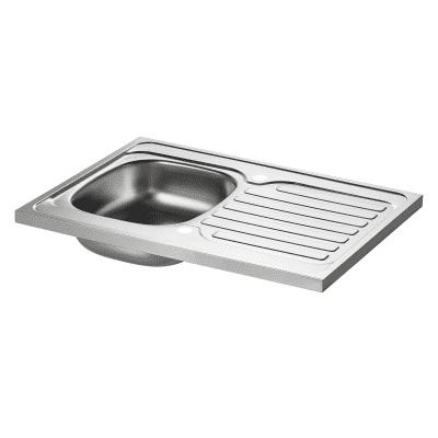 Lavello d'appoggio Kama 80 x 60 cm 1 vasca con gocciolatoio