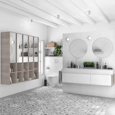 Mobile bagno Neo3 bianco L 135 cm