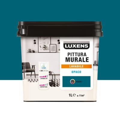 Pittura murale LUXENS 1 L blu miami 1