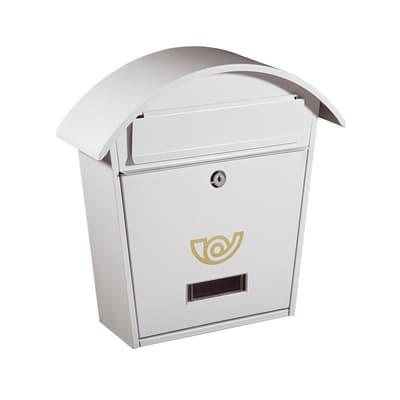 Cassetta postale formato Rivista, bianco, L 36.5 x P 12 x H 37 cm