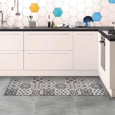 Tappeto Relax ceramic , grigio medio, 50x100 cm