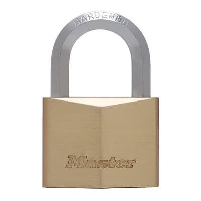 Lucchetto con chiave MASTER LOCK in ottone dorato ansa H 22 x L 32 x Ø 11 mm