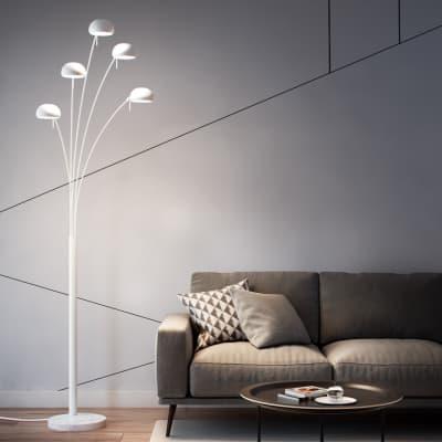 Lampada da terra in metallo, H224.0cm, E14 5xINSPIRE