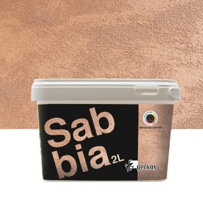 Pittura decorativa Sabbia 2 l marrone cioccolato 6 effetto sabbiato