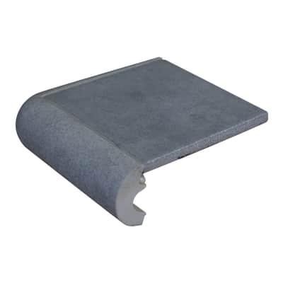 Bordo angolare Cement H 4 cm grigio