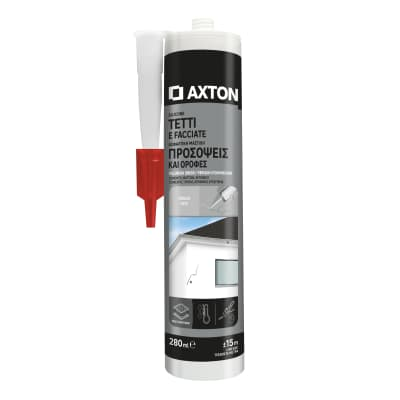 Silicone sigillante AXTON Tetti e Grondaie grigio 280 ml