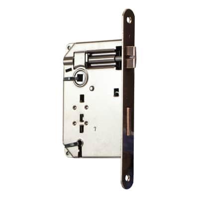 Serratura a incasso patent per porta per interni, entrata 6 cm, interasse 70 mm sinistra e destra