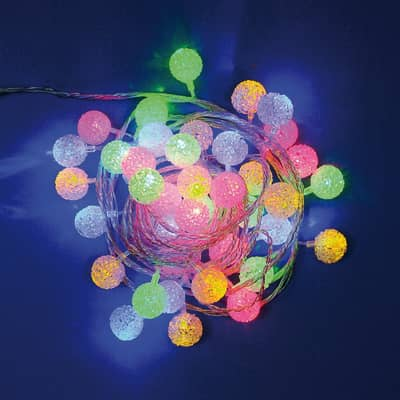 Catena luminosa 40 lampadine LED multicolore 400 cm