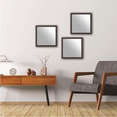 Specchio a parete quadrato Milo rovere 30x30 cm