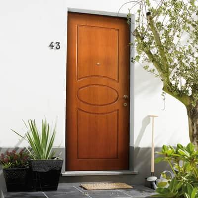 Porta blindata Gold noce L 90 x H 210 cm sinistra