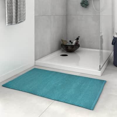 Tappeto bagno rettangolare Industrial in 100% cotone verde 80 x 50 cm