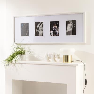 Cornice INSPIRE Milo per 4 fotografie 33x95 bianco