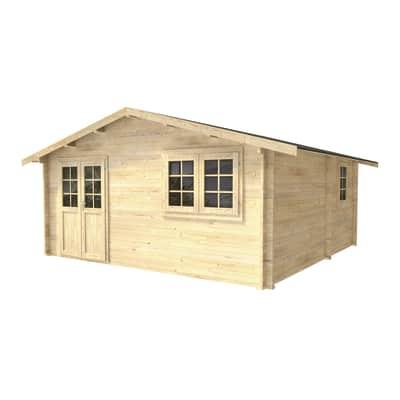 Casetta da giardino in legno Molly,  superficie interna 22.18 m² e spessore parete 45 mm