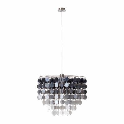 Lampadario Zarina nero, grigio, in acrilico, diam. 56 cm, E27 MAX60W IP20 BRILLIANT