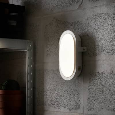 Applique Ovale in plastica, bianco, 12.0W 1300LM IP44