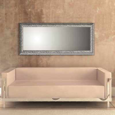 Specchio a parete rettangolare Chic argento 77x177 cm