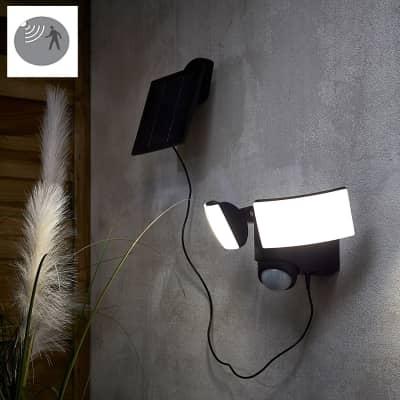 Proiettore solare Solner LED integrato nero 10.5W 1350LM IP54 INSPIRE