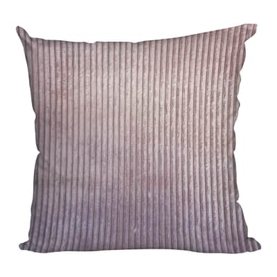 Cuscino Velluto Costine rosa 42x42 cm