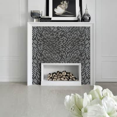 Mosaico Tundra15 H 31.8 x L 31.8 cm nero/grigio/marrone