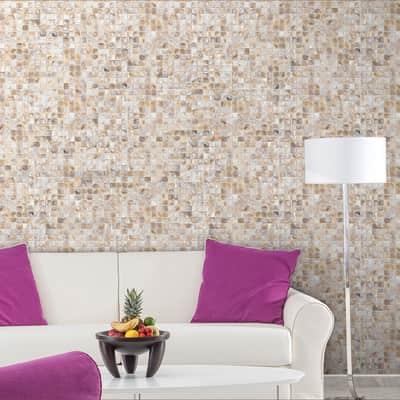 Mosaico H 30.4 x L 30.4 cm beige