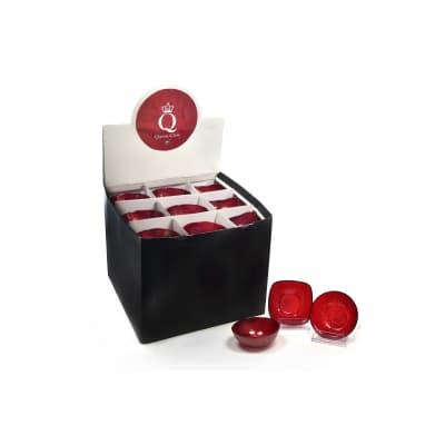 Portacandela rosso H 4 cm,
