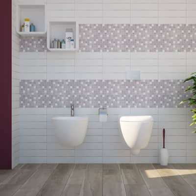 Mosaico H 30 x L 30 cm grigio