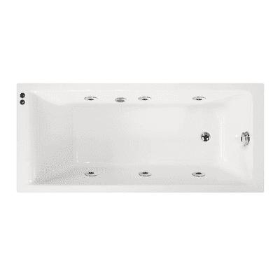 Vasca idromassaggio rettangolare 170, 70 cm, 6 bocchette,