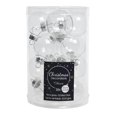 Sfera natalizia in vetro Ø 3.5 cm confezione da 16 pezzi