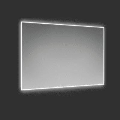 Specchio con illuminazione integrata bagno rettangolare Profilux L 90 x H 60 cm SENSEA