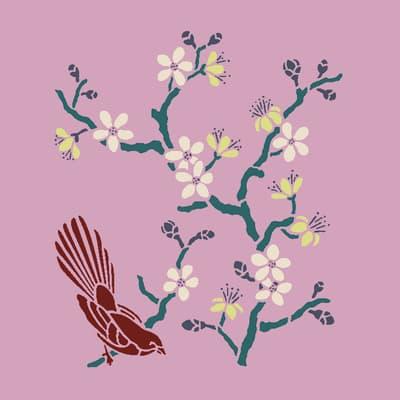 Stencil tema frutti e fiori Fiore di pesco 35 x 40 cm