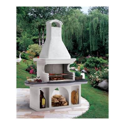 Barbecue in cemento refrattario PALAZZETTI Soho con cappa L 97 x P 97 x H 250 cm