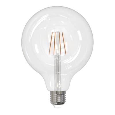 Lampadina smart lighting LED filamento, WIFI, E27, Globo, Trasparente, Luce calda, 8W=1055LM (equiv 8 W), 360°