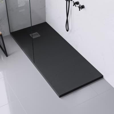Piatto doccia ultrasottile resina Remix 90 x 160 cm nero