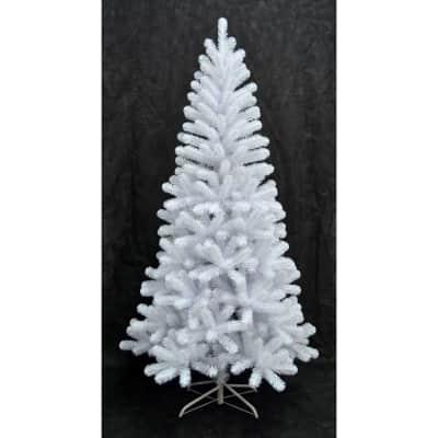 Albero di natale artificiale bianco H 180 cm,