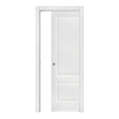 Porta scorrevole a scomparsa Deneb bianco laccato L 60 x H 210 cm scorrevole