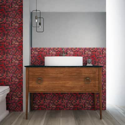 Mosaico Campione Red Chiffon 20 H 0.4 x L 9 cm