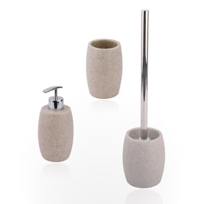 Set di accessori per bagno Sand beige in resina , 3 pezzi