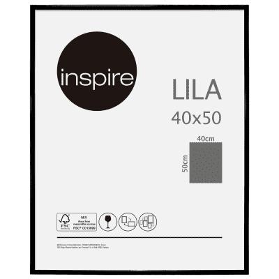 Cornice INSPIRE Lila nero per foto da 40x50 cm