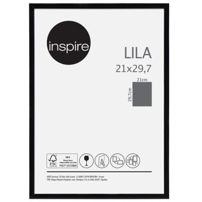 Cornice INSPIRE Lila nero per foto da 21x29.7 (A4) cm