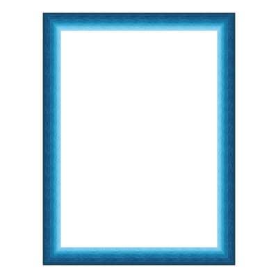 Cornice INSPIRE Bicolor azzurro<multisep/>blu per foto da 60x80 cm