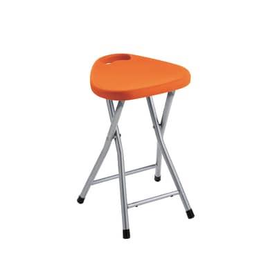 Sgabello Co75 in plastica arancione